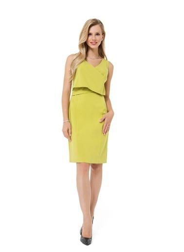 Accouchée Kolay Emzirme Özellikli Şık Elbise Yeşil